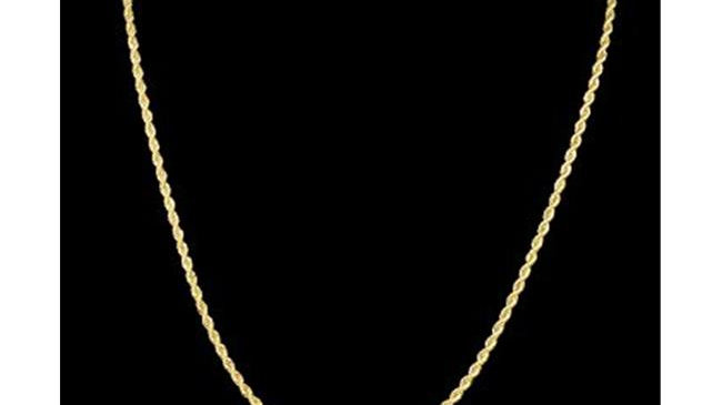2.4 mm & 20 in. 14K Gold Plated Rope Chain Necklace