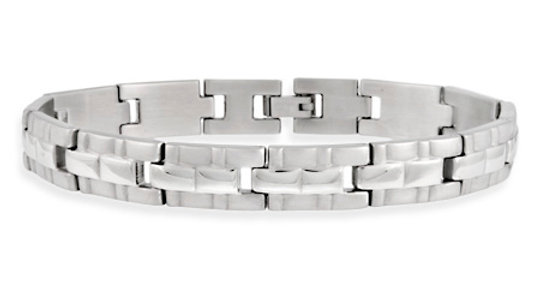 Stainless Steel Brick Link Men's Bracelet