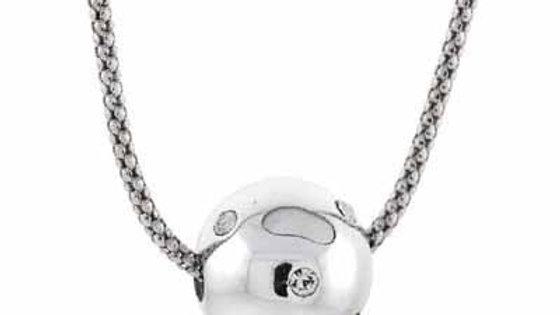 Sterling Silver Simulated Diamond CZ Confetti Ball Pendant