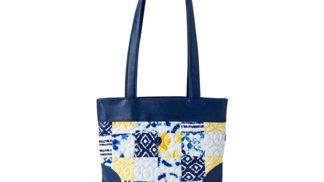 American Heritage Textiles  Abby Handbag; Cobalt Sun - 12.5 x 8.25 x 3.5 in.