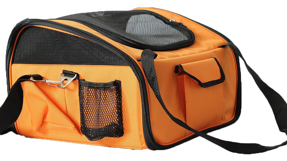 Ultra-Lock' Collapsible Safety Travel Wire Folding Pet Car Seat Carrier
