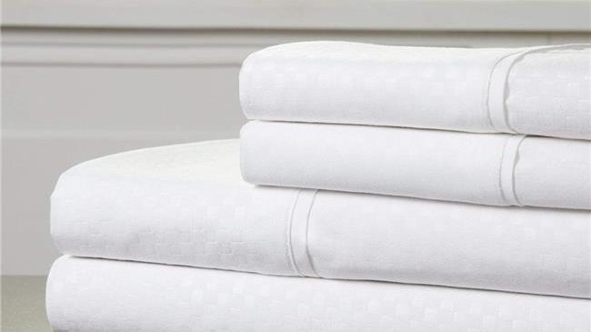 Bedford Home 66A-97823 Embossed Sheet Set - 81 x 96 in.