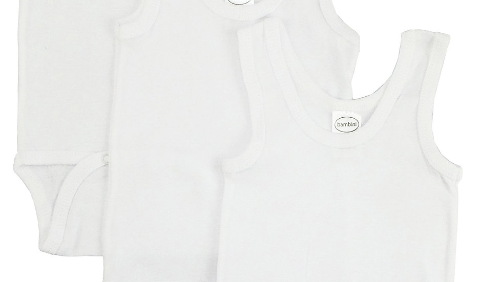 Bambini White Tank Top Onezie