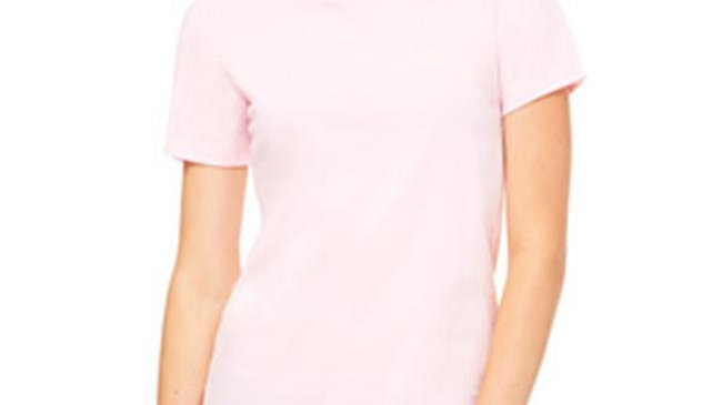 Bella B6400 Canvas Ladies Relaxed Jersey Short-Sleeve Tee - Pink; Large