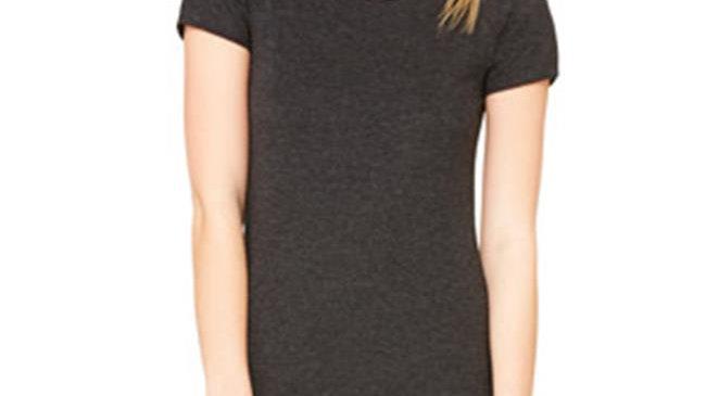 Bella Canvas Ladies Triblend Short-Sleeve Tee - Charcoal Black ; Extra Large