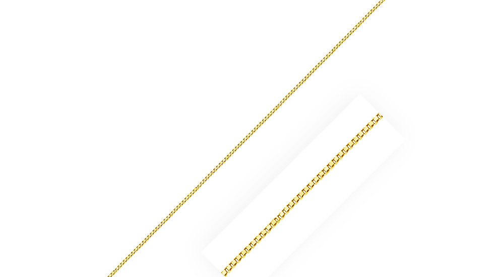 14k Yellow Gold Classic Box Chain 0.45mm