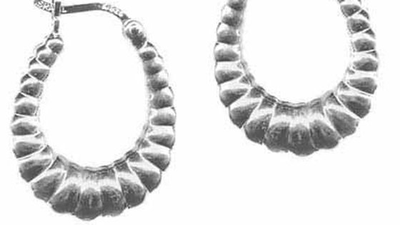 Sterling Silver Shrimp Design Hoop Earrings