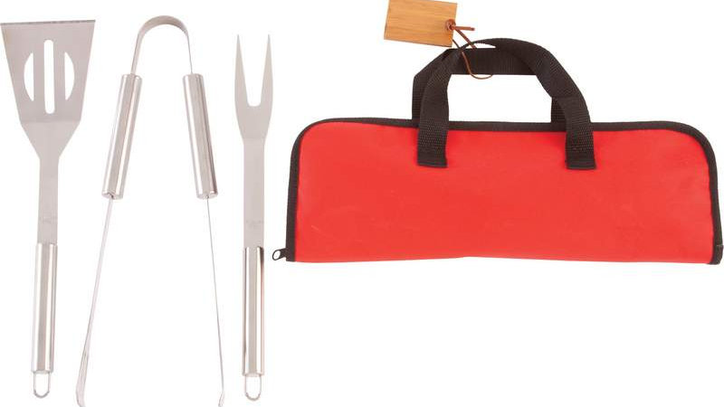 Chefmaster; 4pc Stainless Steel Barbeque Tool Set