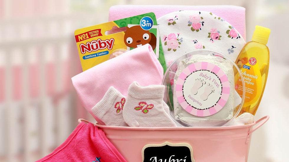Baby Basics Gift Pail Pink