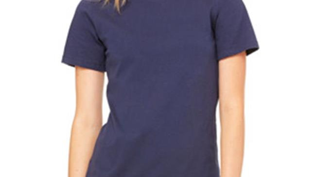 Bella B6400 Canvas Ladies Relaxed Jersey Short-Sleeve Tee - Navy; Small