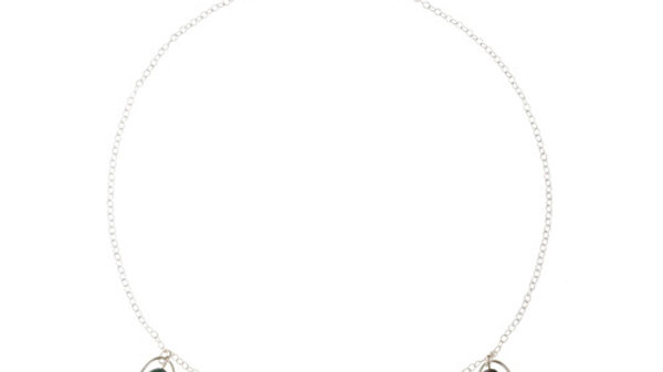 Sterling Silver Freshwater Cultured White & Peacock Pearl Dangle Necklace