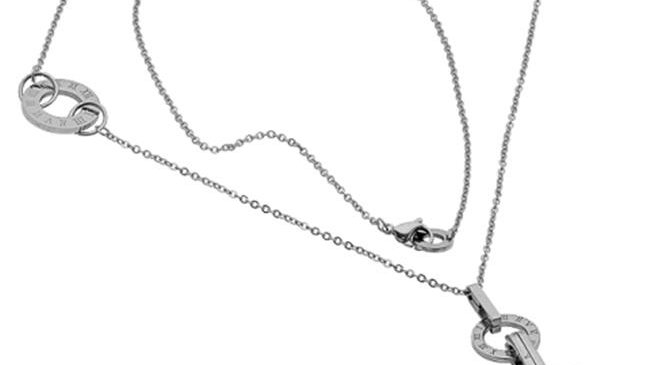 Ladies 30 In. Stainless Steel Necklace