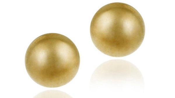 18K Gold over Sterling Silver 6mm Ball Stud Earrings