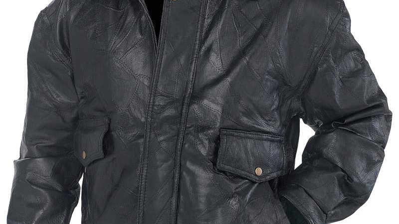 ROCK LEATHER JACKET- 2X