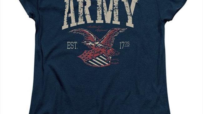 Army-Arch - Short Sleeve Womens Tee Tee; Navy - 2X