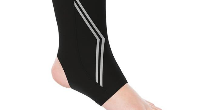 Bluestone Copper Infused Ankle Support Compression Sleeve; Black - Large