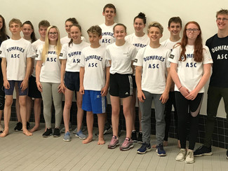 Scottish National Swimming Success for Dumfries ASC