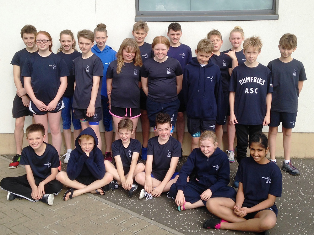 Dumfries ASC swimmers at Hearts Premier Meet