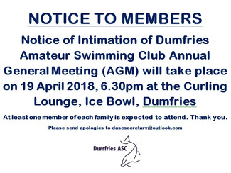 DASC AGM 19th April 2018