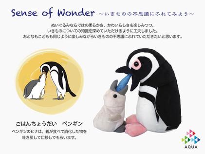 【7/3(土)放送のNHKニュース「おはよう日本」で、センスオブワンダーシリーズ 「ごはんちょうだいペンギン」のぬいぐるみが紹介されました!】