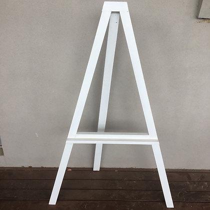 White A Frame Easel