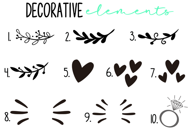 Add a decorative element for a unique look!