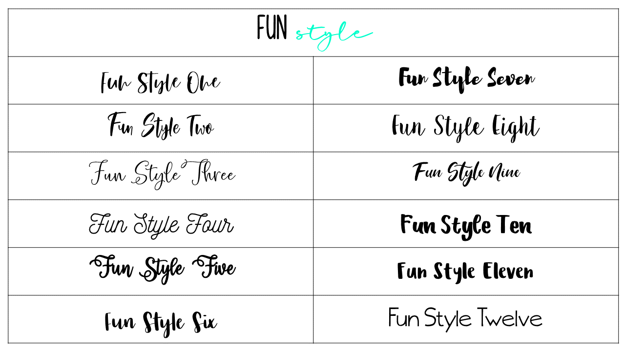 Fun Style Fonts - Updated Fonts April 20