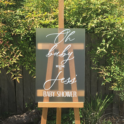 A2 Frosted Acrylic Sign