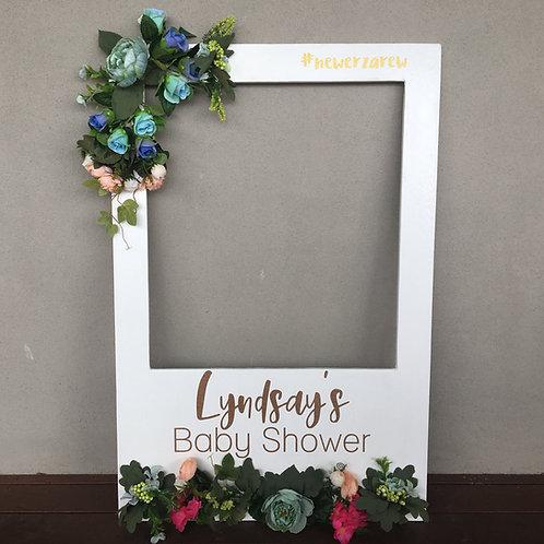 Floral Polaroid Frame