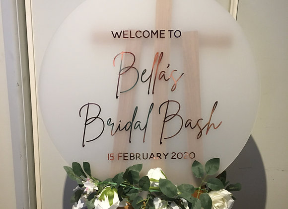 Round Frosted Acrylic Sign