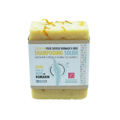 SHAMPOOING SOLIDE, œufs et romarin : L'OR DE CHI ! 140g