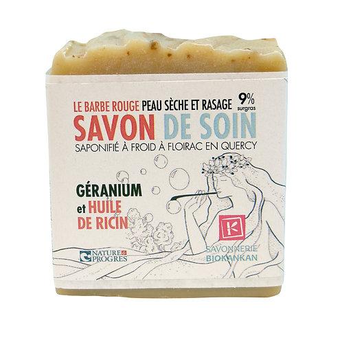 SAVON SURGRAS VISAGE & CORPS // Géranium & huile de ricin