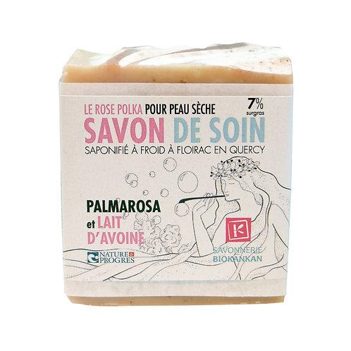 SAVON SURGRAS BIOKANKAN // Palmarosa & lait d'avoine //