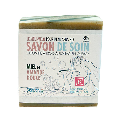 SAVON SURGRAS BIOKANKAN // Miel & amande douce //