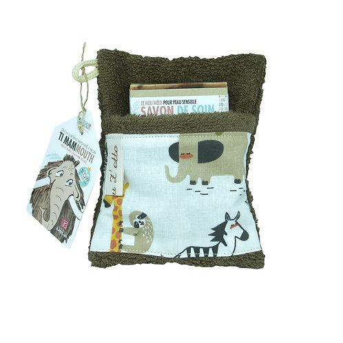 Le pack TI MAMMOUTH, savon  100g + petit gant/porte-savon