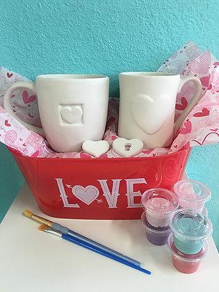 Valentine Cup Basket