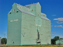 Grain elevator, Milk River, Alberta.
