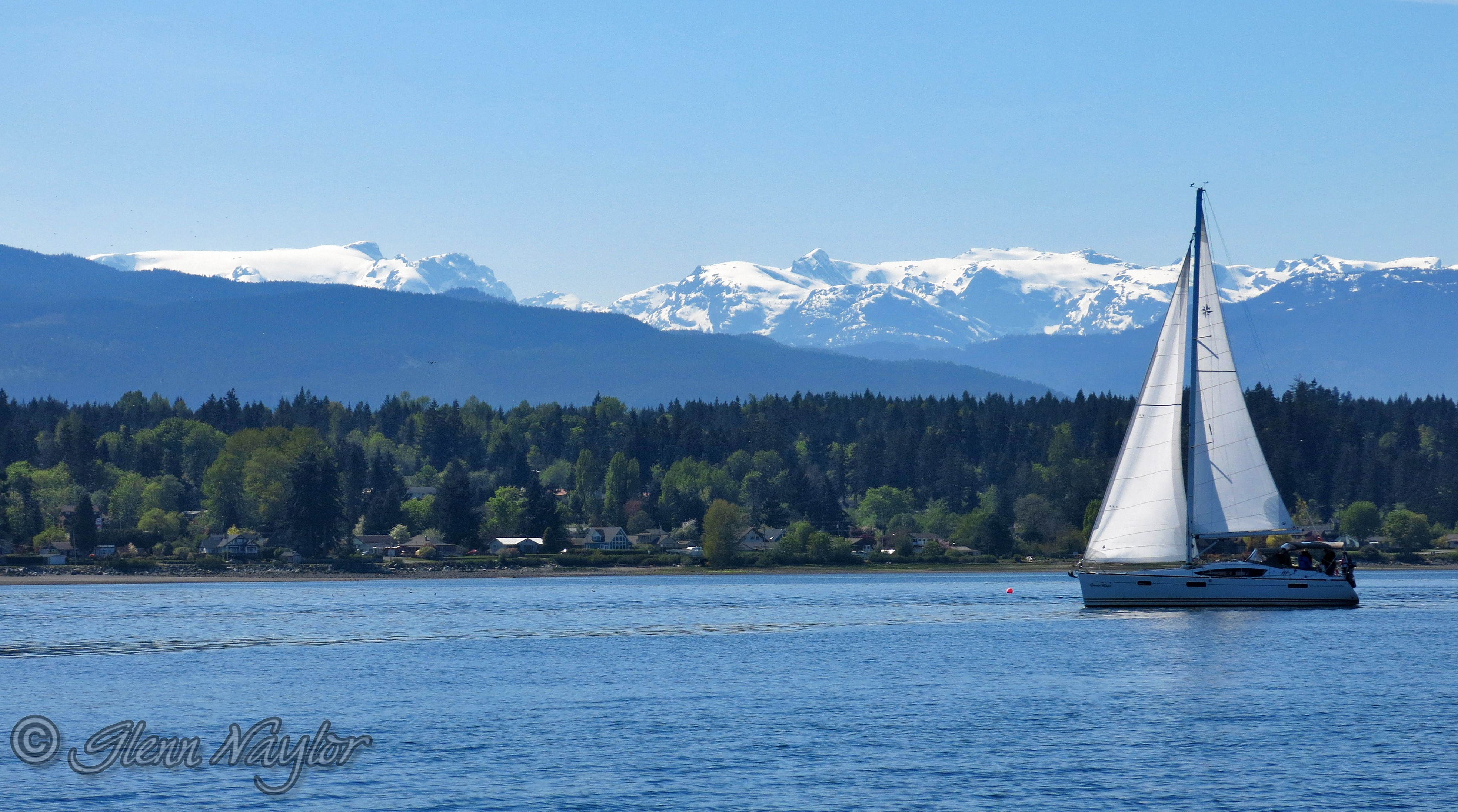 Sailing and Comox Glacier
