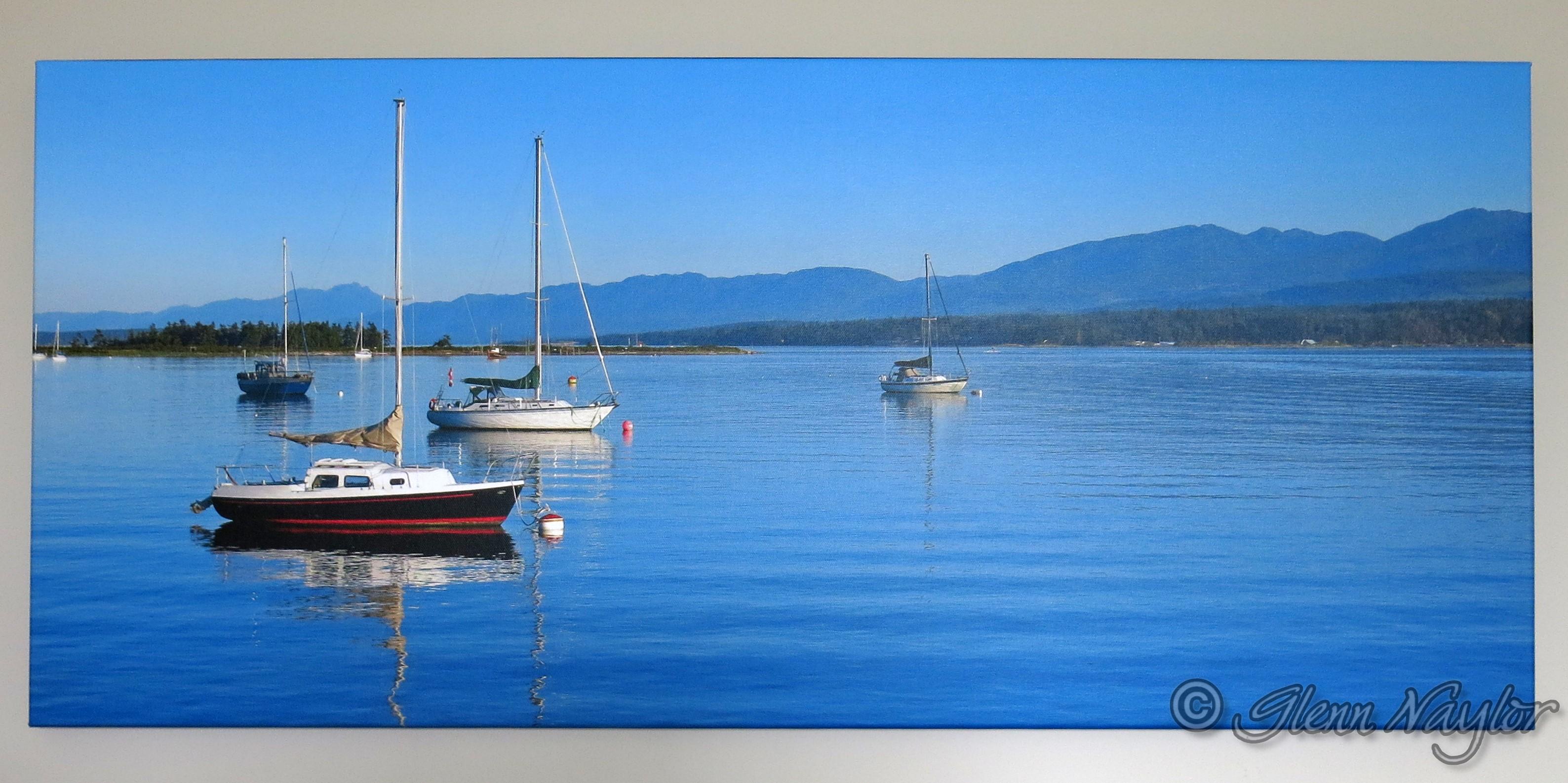 Comox Harbour, canvas wrap