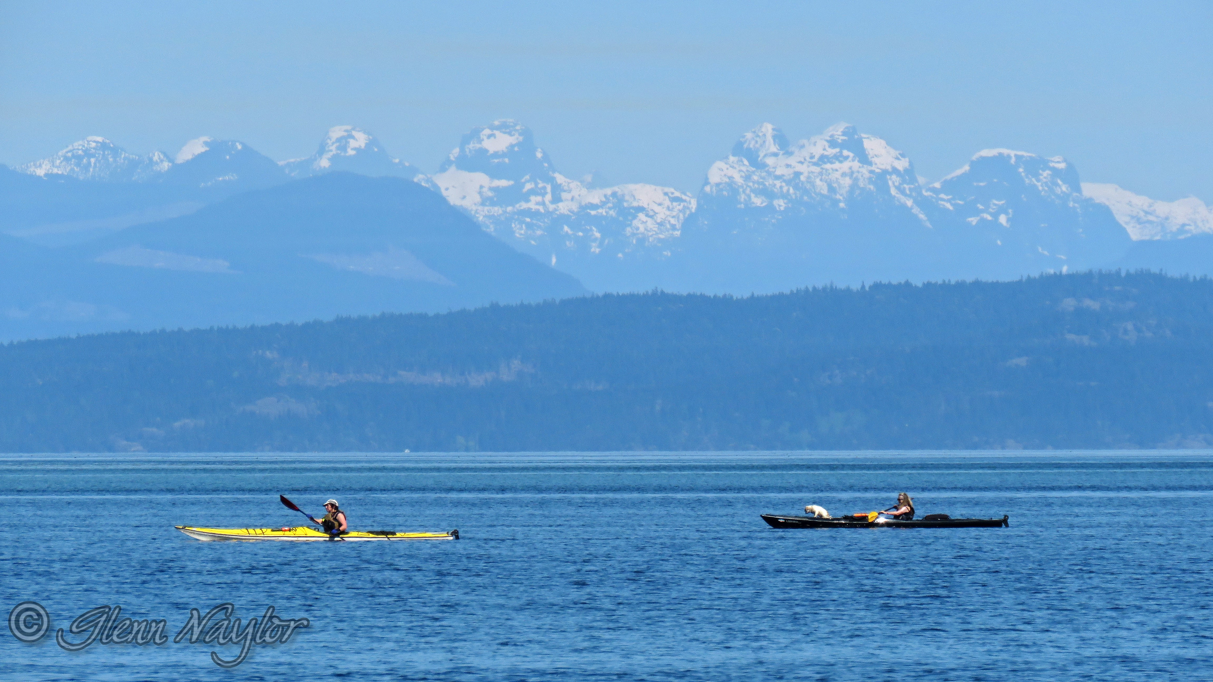 Kayaking, Salish Sea, Comox BC