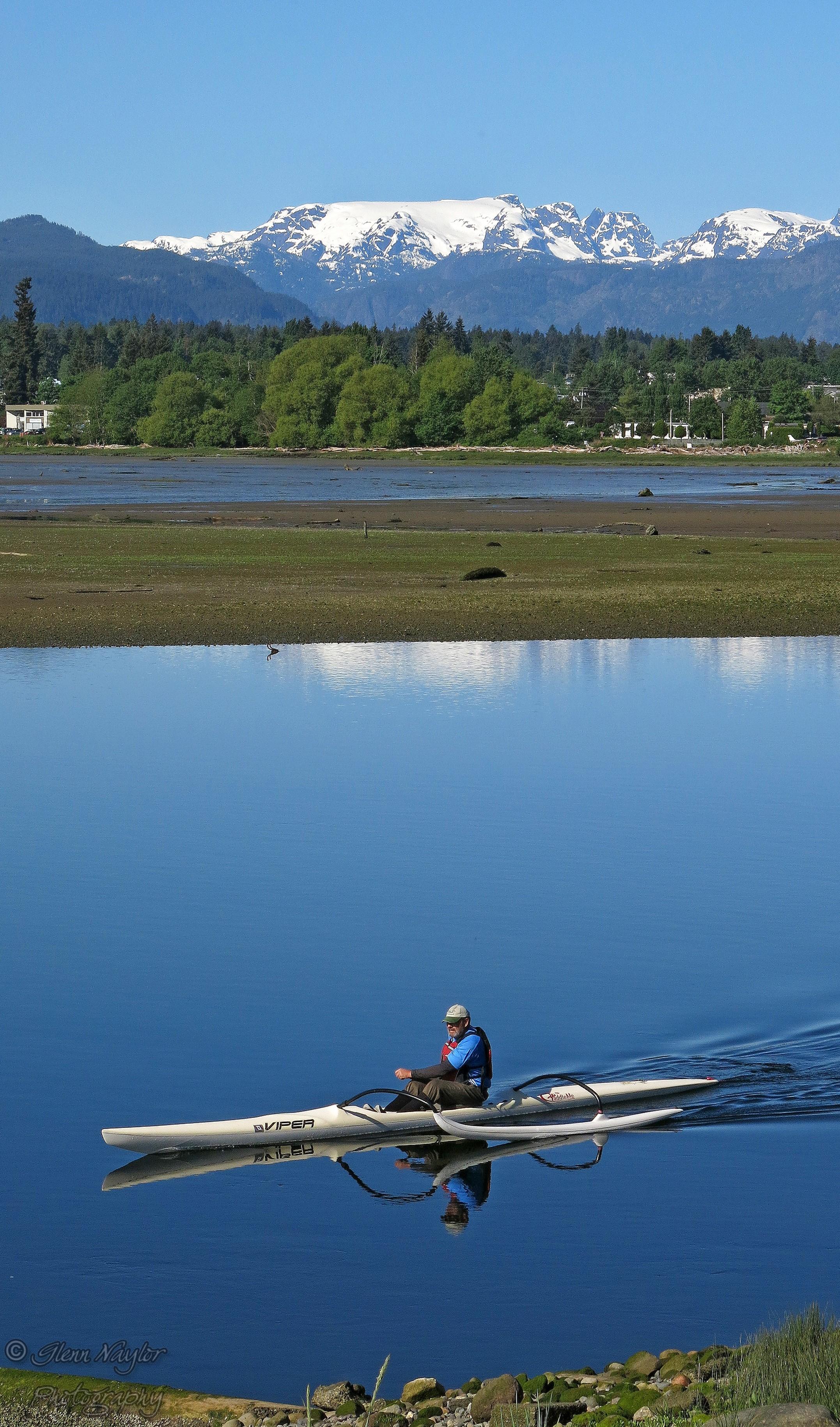 Kayaking on the ebb Comox BC