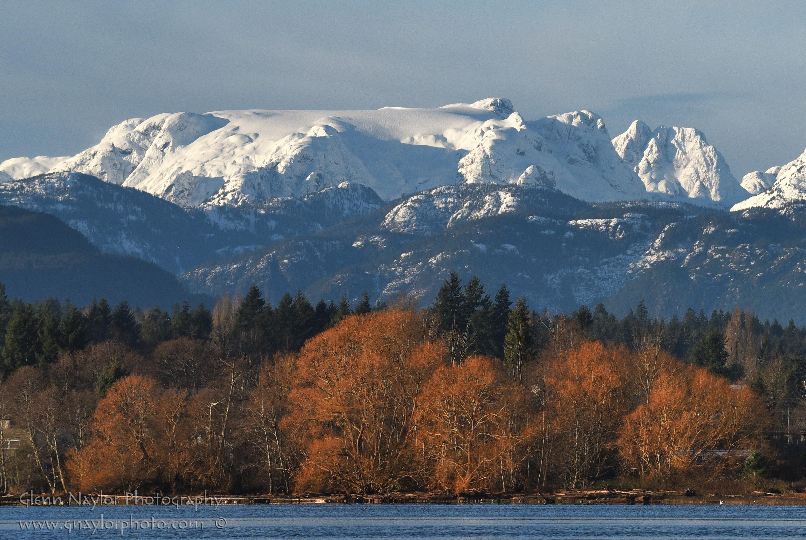 Comox Glacier on a fine winter morn