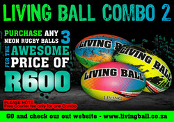 COMBO 2 - RUGBY BALLS