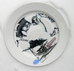 Screen printed image on ceramic