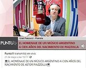 Foto entrevista Radio Punto 11.Alta Grac