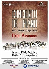 Uriel Pascucci, Concierto Teatro Independencia, Mendoza, Argentina
