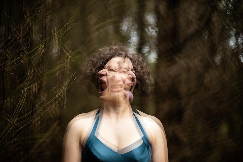 Three headed wild woman by Grace Gelder