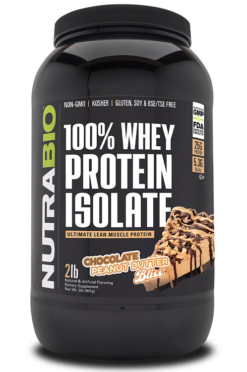Whey Protein Isolate 2 Pounds -Chocolate Peanut Butter Bliss