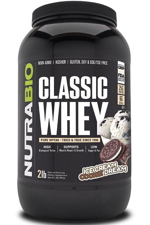 Classic Whey Protein (WPC80) 2 lb -Ice Cream Cookie Dream