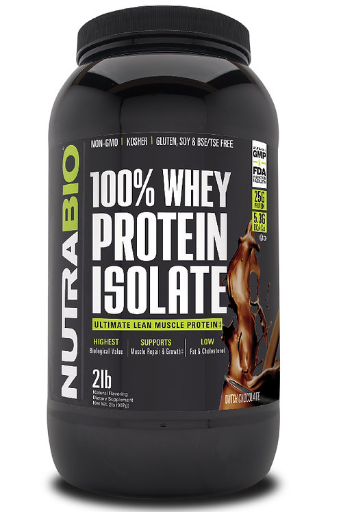 Whey Protein Isolate 2 Pounds -Dutch Chocolate